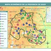 Mapa económico de Jujuy