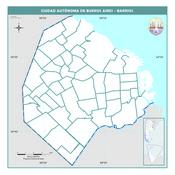Mapa mudo político de la Ciudad Autónoma de Buenos Aires