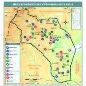 Mapa económico de la provincia de La Rioja
