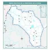 Mapa mudo político de La Rioja
