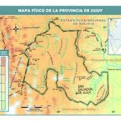 Mapa físico de Jujuy