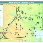 Mapa económico de la provincia de Río Negro