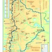 Mapa físico de Neuquén