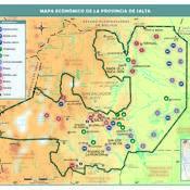 Mapa económico de la provincia de Salta