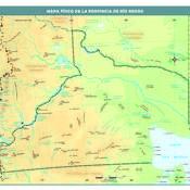 Mapa físico de Río Negro