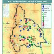Mapa económico de la provincia de San Juan