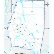 Mapa mudo político de Santiago del Estero