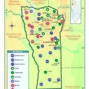 Mapa económico de la provincia de San Luis