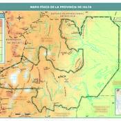 Mapa físico de Salta