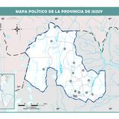 Mapa mudo político de Jujuy