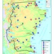Mapa económico de la provincia de Santa Cruz
