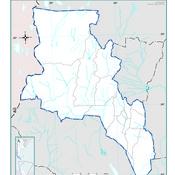 Mapa político de la provincia de Catamarca
