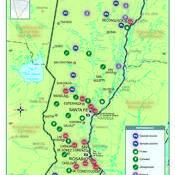 Mapa económico de la provincia de Santa Fe