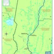 Mapa físico de Santa Fe